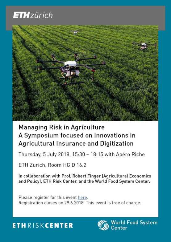 Managing risk in agriculture – World Food System Center